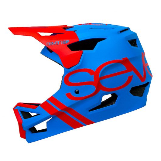 7 iDP Project 23 ABS Full Face Helmet 2020 - Matte Electric Blue-Gloss Thruster Red, Matte Electric Blue-Gloss Thruster Red